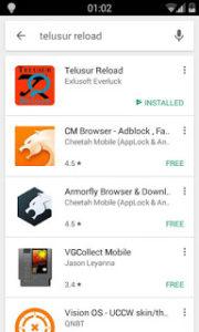 Telusur Reload di Google PlayStore
