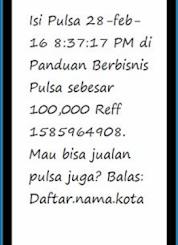 Cara Setting SMS Buyer Promosi Pulsa